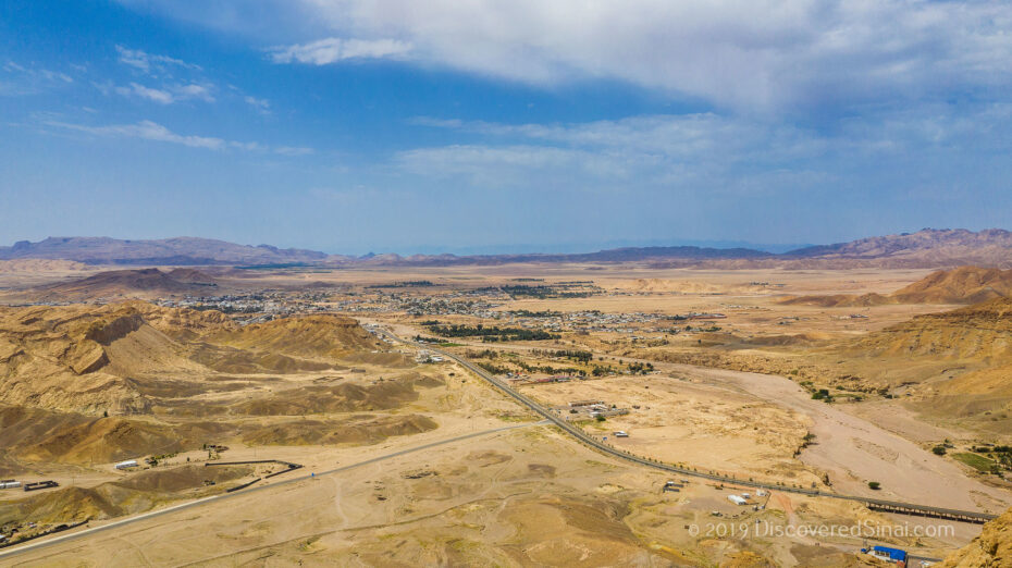 Drone photo of Al-bad' - home of Jethro in NW Saudi Arabia (land of Midian)