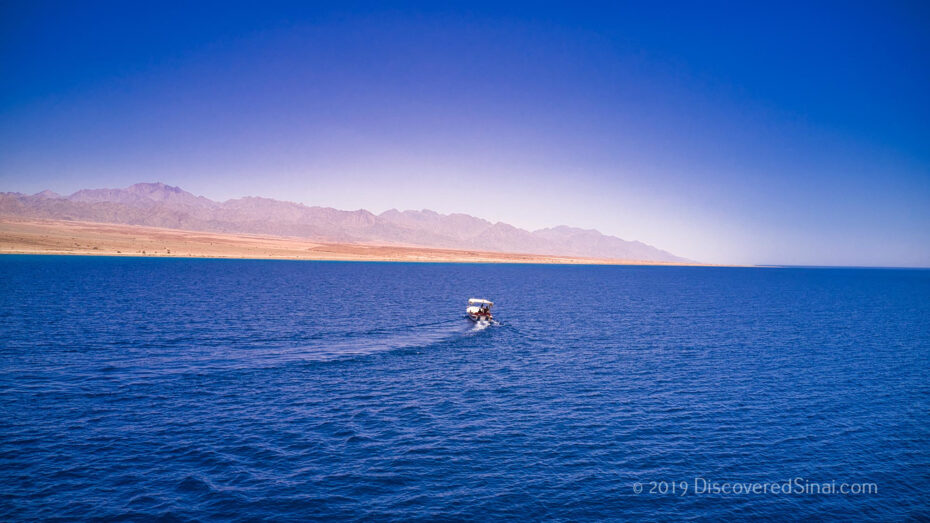 Join us on a boat ride on the Saudi side of the Red Sea crossing across from Nuweiba, Egypt.