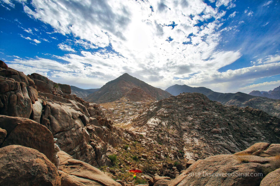 Jabal Maqla's southern peaks. Is this Mount Sinai in Arabia? (Galatians 4:25)