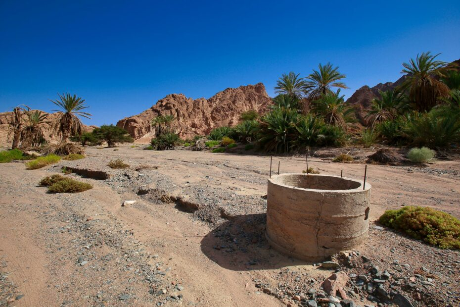 Tayyib al Ism oasis - an important watering stop in the Land of Midian with 12 wells. Is this Elim?