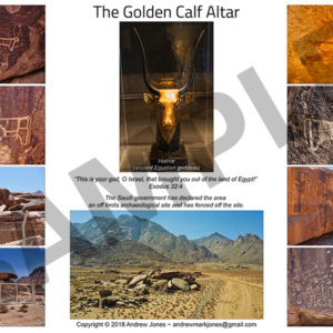 Golden Calf Altar site collage poster.