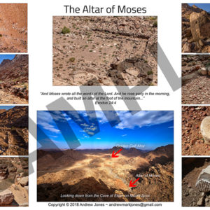 Altar of Moses collage poster.