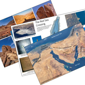 Posters on the Exodus and real Mount Sinai in Arabia