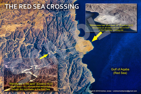 Red Sea Crossing site overview poster.