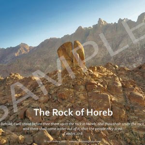The split Rock of Horeb poster.