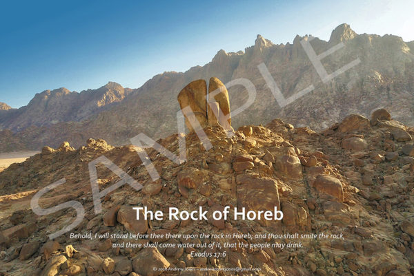 The split Rock of Horeb poster.