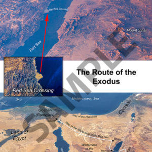 Route of the Exodus and land of Midian poster.