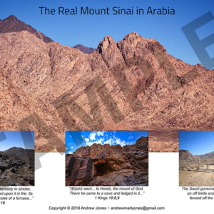 Base of Mount Sinai in Arabia.