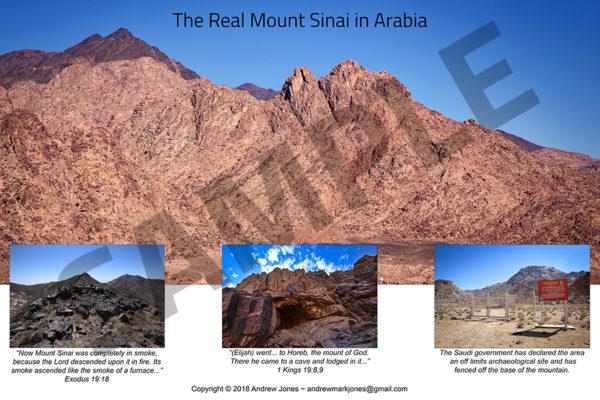 Base of Mount Sinai in Arabia.