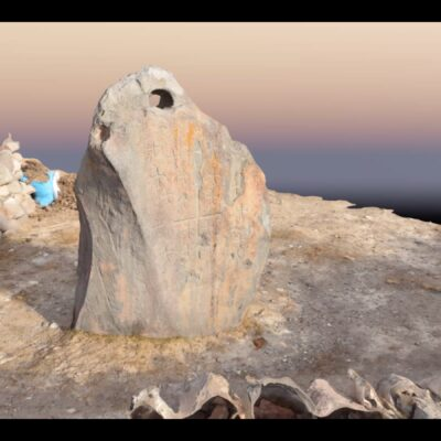 Drogue anchor stone photogrammetry results