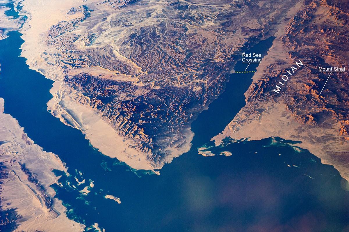Exodus route and Mount Sinai