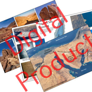 Mount Sinai in Araba & Exodus digital poster set