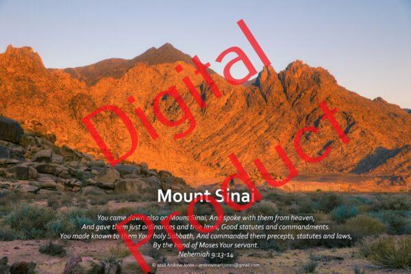 Mount Sinai in Arabia digital poster set