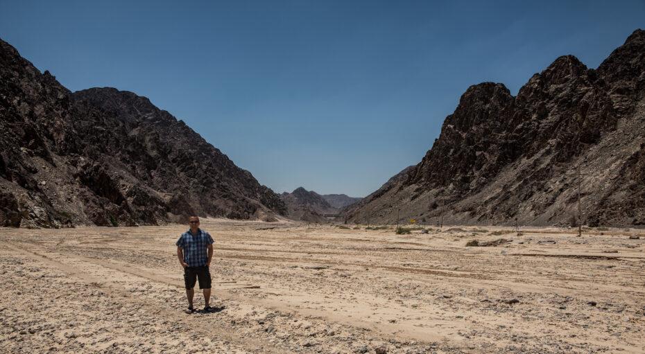 Wadi Watir at the real Red Sea crossing, Nuweiba, Egypt