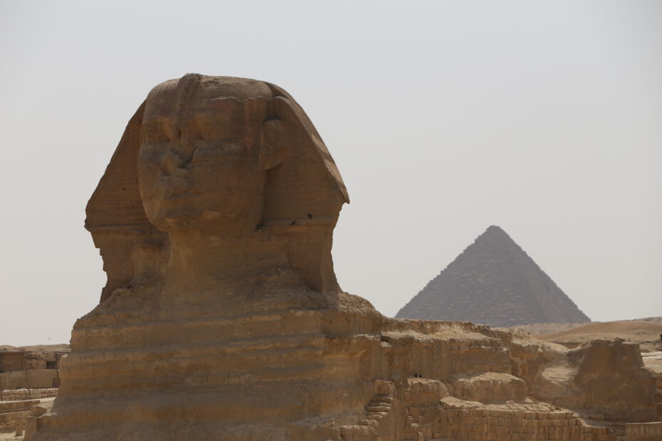 Sphinx and Giza Pyramids