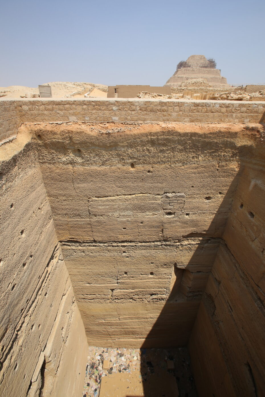 Grain bins of Joseph at Saqqara